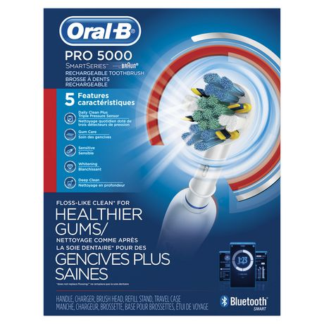 Oral-B Pro 5000 SmartSeries Power Rechargeable Electric Toothbrush Powered by Braun - image 1 of 9