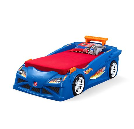 Lit d'auto de course Hot WheelsMC lit berceau à lit simple par Step2 - image 3 de 8