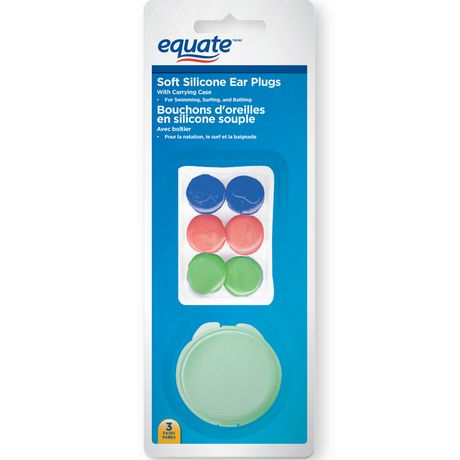 Equate Soft Silicone Ear Plugs with Carrying Case - image 1 of 2