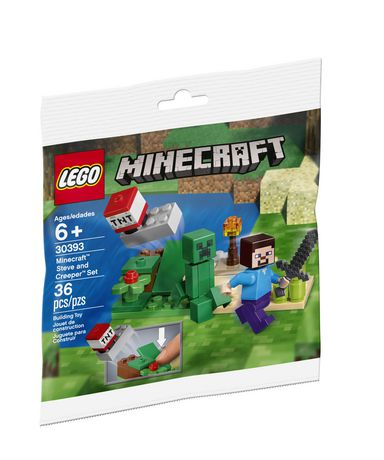 a04c5e2e55fd LEGO Minecraft Steve and Creeper Set 30393