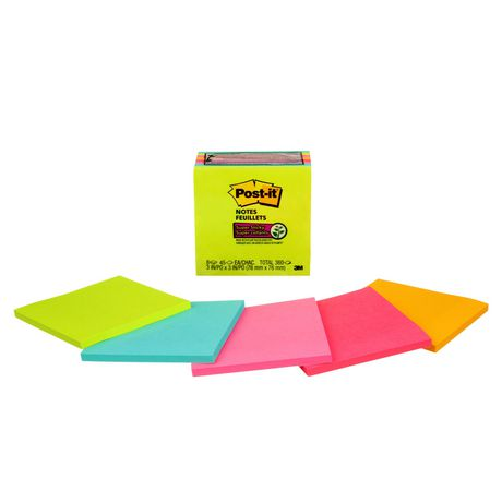 Post-it® Super Sticky Notes, 3345-8SSMX-C, Assorted - image 2 of 4