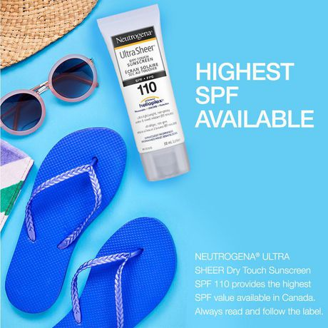 Neutrogena Sunscreen Lotion SPF 110, Ultra Sheer Dry Touch - image 3 of 7