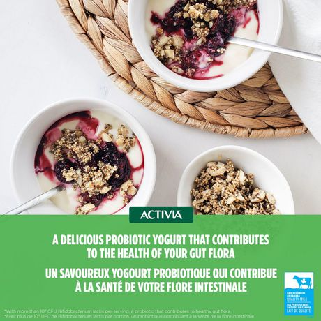 Activia Yogurt with Probiotics, Strawberry/Blueberry/Raspberry/Peach Flavour, 100g (Pack of 12) - image 2 of 4