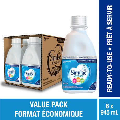 Similac Advance Step 1 Ready-To-Use Baby Formula, Value Pack - image 1 of 9