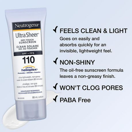 Neutrogena Sunscreen Lotion SPF 110, Ultra Sheer Dry Touch - image 6 of 7