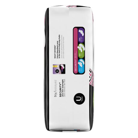 U by Kotex Security Ultra Thin Pads with Wings, Long, Unscented - image 2 of 5