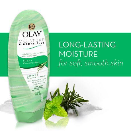 Olay Moisture Ribbons plus Shea + Rosemary Mint Body Wash - image 4 of 6