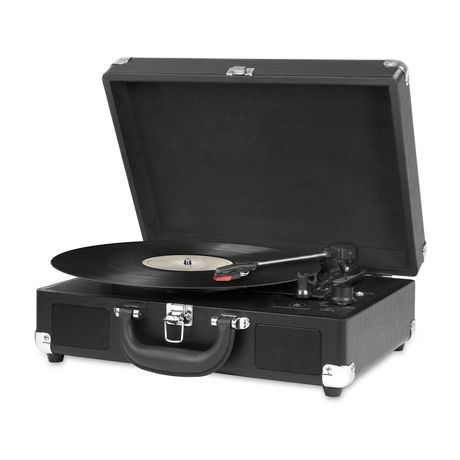 Innovative Technology Bluetooth Nostalgic Portable Vintage Suitcase Turntable - image 1 of 2
