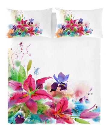 Ens. housse de couette Lilies de Gouchee Design pour grand lit - image 1 de 2