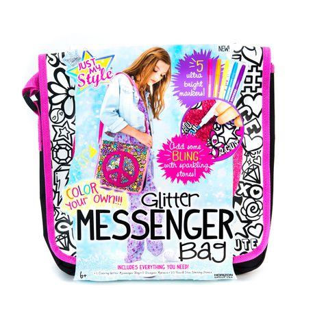 fd515448342f Just My Style Glitter Messenger Kit Bag - image 1 of 4 ...