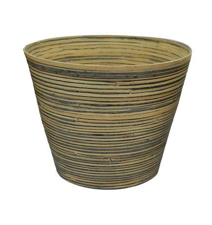 "8"" Natural Elegance Bamboo Planter Bamboo Black - image 1 of 1"