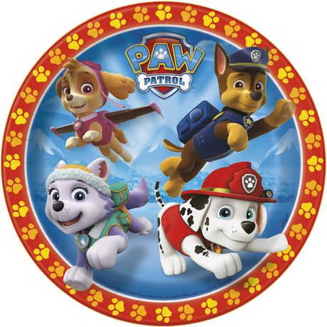 Nickelodeon Paw Patrol 7 Quot Paper Plates Walmart Canada