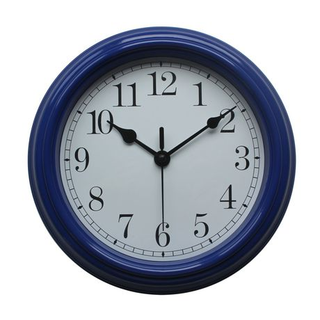 horloge murale de base hometrends en bleu. Black Bedroom Furniture Sets. Home Design Ideas