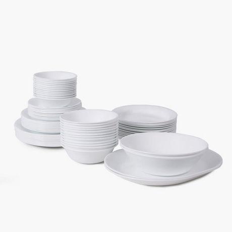Corelle 174 Livingware Winter Frost White 76pc Dinnerware