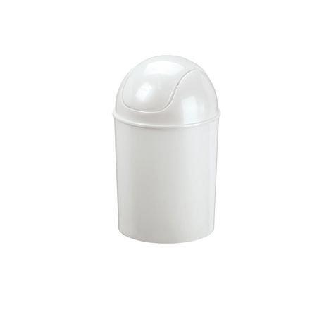 wastebasket lid bathroom swing trash mini can
