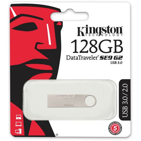Kingston Digital 128 GB Data Traveler SE9 G2 USB 3.0 Flash Drive - image 3 of 3