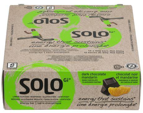 Solo Dark Chocolate Mandarin Energy Bars - image 2 of 5