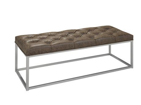 banc d 39 appoint de brassex en brun walmart canada. Black Bedroom Furniture Sets. Home Design Ideas