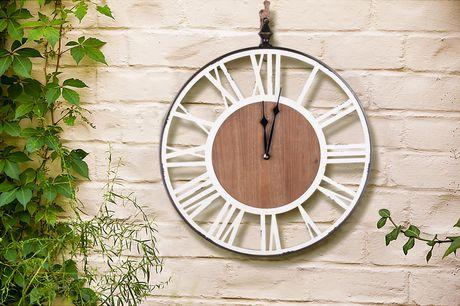 Hometrends Wall Art Wood Clock - image 1 of 2