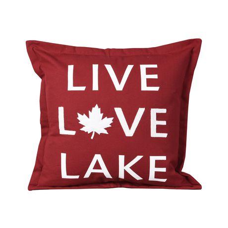 Canadiana Coussin Décoratif- Vivre L'amour Lac - image 2 de 4