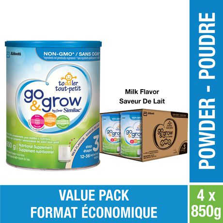 Go & Grow by Similac Step 3 Toddler Nutritional Drink, Milk Flavour, Powder, Value Pack - image 1 of 8