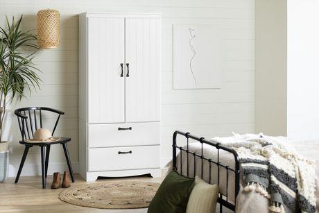 South Shore Farnel Wardrobe Armoire-Pure White - image 2 of 9