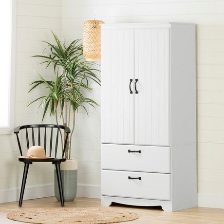 South Shore Farnel Wardrobe Armoire-Pure White | Walmart ...