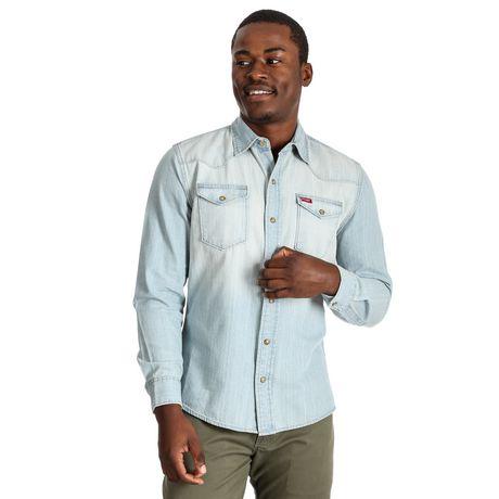 Wrangler Men's Premium Long Sleeve Snap Shirt - image 1 of 3