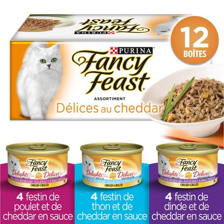 Fancy Feast Wet Cat Food, Cheddar Delights Grilled Variety Pack - image 2 of 5