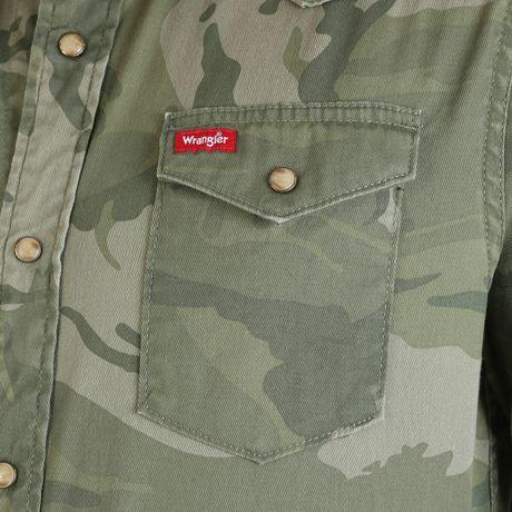 Chemise à boutons-pression à manches longues de première qualité Wrangler pour homme - image 4 de 4