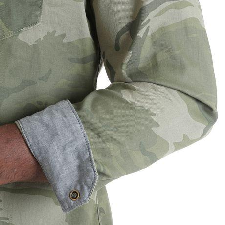 Chemise à boutons-pression à manches longues de première qualité Wrangler pour homme - image 3 de 4