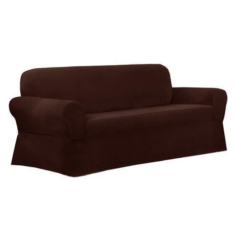 Mainstays Newman Stretch 1 Piece Sofa Slipcover Burgundy
