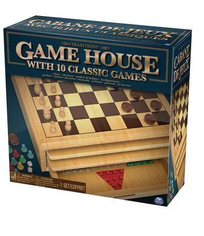 The Canadian Group Classic Games Wood Checkers Set Board /& 25 Game Pieces