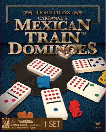 Cardinal Games Traditions Mexican Train Dominoes Game