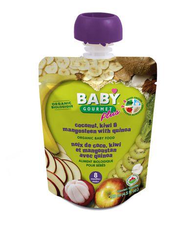 Baby Gourmet PLUS - Aliment biologique - Noix de coco, kiwi et mangoustan avec quinoa - image 1 de 1