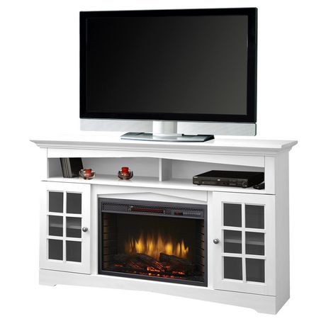 "Muskoka Huntley 59"" Media Electric Fireplace White"
