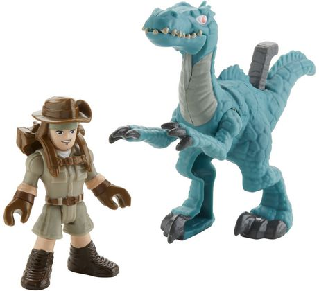 Imaginext Jurassic World Muldoon & Raptor - image 3 of 7