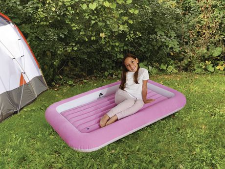 Ozark Trail Kid's Flocked Air Bed - Pink - image 2 of 3