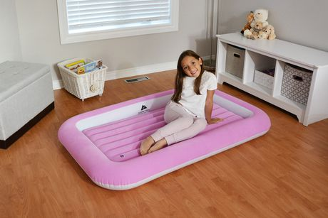 Ozark Trail Kid's Flocked Air Bed - Pink - image 3 of 3