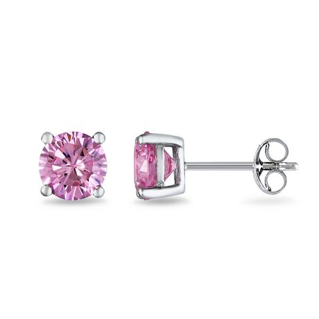 e8ed835213c56 Tangelo 2 Carat T.G.W. Pink Cubic Zirconia Sterling Silver Solitaire ...