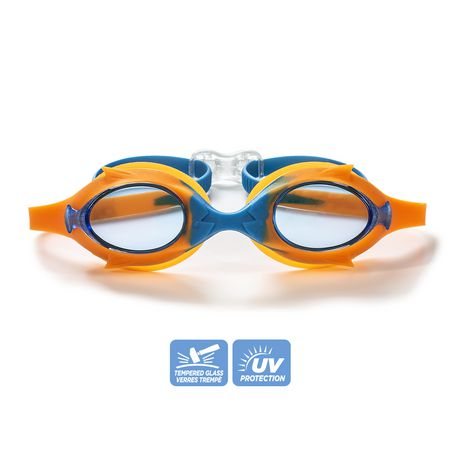 Lunette de natation enfant cadet - Bleu / Orange - image 2 de 6