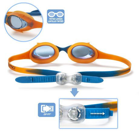 Lunette de natation enfant cadet - Bleu / Orange - image 4 de 6