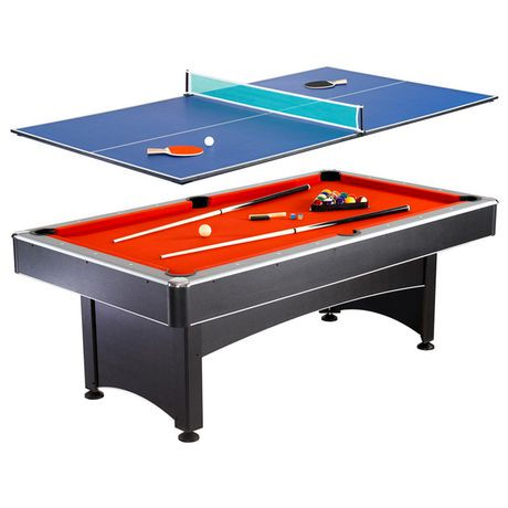 Hathaway games maverick 7 ft pool table w table tennis - Walmart pool tables ...