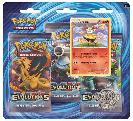 Cartes à échanger Pokemon XY12 Evolutions en 3 paquets double Braixen rouge – Anglais - image 1 de 1