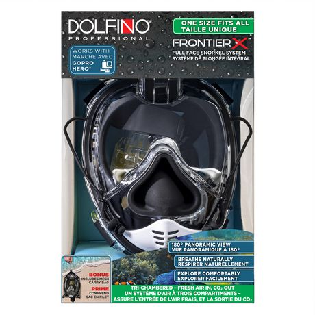 Frontier X Adult Full Face Swim Mask, Medium /Large - Black - image 6 of 6