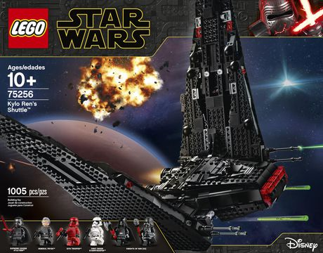Lego Star Wars The Rise Of Skywalker Kylo Ren S Shuttle 75256 Toy Building Kit 1 005 Pieces Walmart Canada