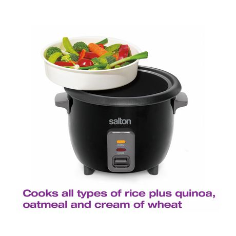 Salton Automatic Rice Cooker & Steamer 6 Cup RC1653 - image 7 of 9