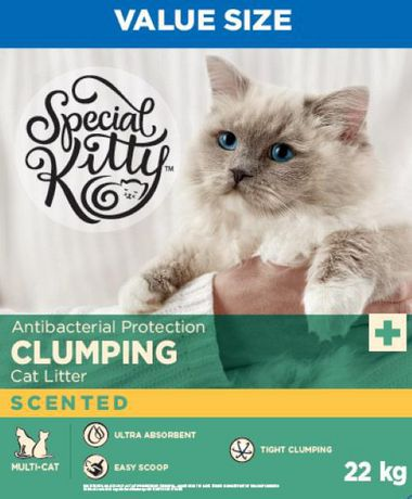 Antibacterial Protection Clumping Cat Litter - Scented - image 1 of 3
