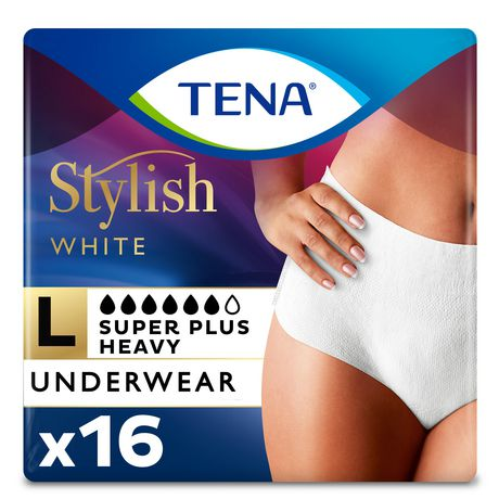 82529495fb7c6 TENA Incontinence Underwear for Women, Super Plus Absorbency, Large, 16  Count - image ...
