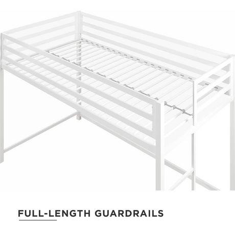 Dhp Miles Metal Junior Twin Loft Bed Bunk For Amp Teens White Walmart Canada